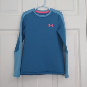 Boy's Under Armour COLDGEAR Fitted Long Sleeve Top